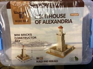 NEW! Wise Elk Toy Lighthouse of Alexandria Construction Set Real Plaster Bricks