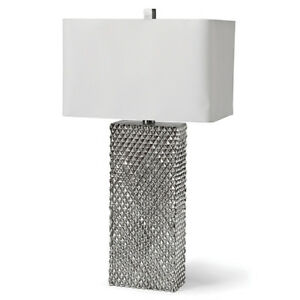 NEW! Platinum Column Table Lamp Regina Andrew Design!