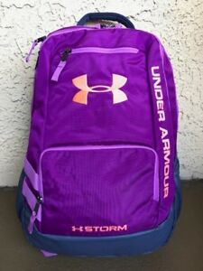 NEW Under Armour Storm Hustle 2 Backpack  Purple Gray Orange 1263964-959 NWT