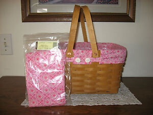 NEW Longaberger Pink Horizon of Hope Liner 4 Your Medium Market Basket NIOB