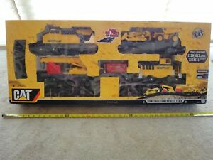 CAT Caterpillar Construction Express battery operated train set. New!