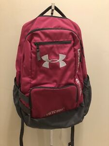 UNDER ARMOUR Tropic Pink Hustle 2 Storm1 School Travel Hiking Backpack 1263964