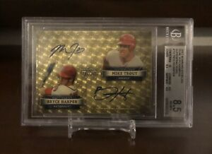 2012 Bowman Sterling Mike Trout / Bryce Harper RC Dual Auto Superfractor # 1/1