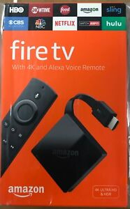 NEW Amazon Fire TV with 4K Ultra HD and Alexa Voice Remote Black 3rd Gen 2017