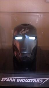 STAN LEE SIGNED MARVEL IRON MAN STEALH MASK HELMET Spiderman Comic sideshow