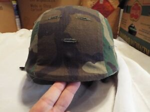 Authentic Military Helmet Made with Kevlar with Camo Cover and Chin Strap