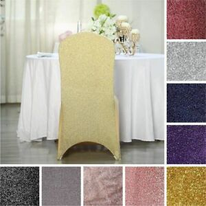 120 Metallic SPANDEX High Quality Stretchable CHAIR COVERS Wedding Decorations