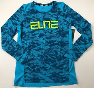 Girl's Youth Nike Dri-Fit Elite Basketball Long Sleeve Shirt M