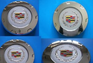 4 new 2007 2014 Cadillac Escalade 22 inch 14 Spoke Wheel Center Hub Caps Chrome
