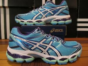 NEW Womens Asics Gel Evate 3 $150 Turquoise Blue Purple T566N 3901 Running Shoes