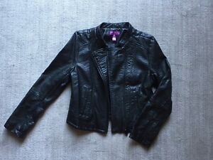 Aqua Leather Jacket For Girls - Large