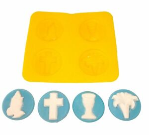 Religious Cream Cheese Mint Candy Fondant Chocolate Mold Confirmation Communion