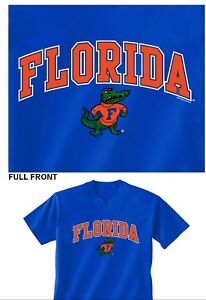 FLORIDA GATORS T SHIRT 100 % COTTON BLUE WITH ALBERT SMALL FOR KIDS CLEARANCE $14.99