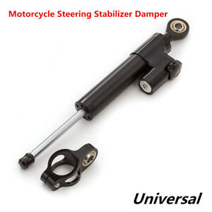 Universal Motorcycle Safety CNC Aluminum Steering Stabilizer Damper 10