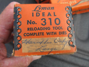 Vintage Lyman Ideal 310 Tool Complete With Dies 220 Swift .220