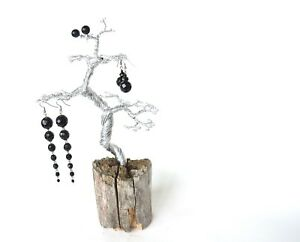 Driftwood Wire Jewelry Display Tree Necklace Stand Bracelet Holder Handmade Art