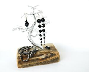 Jewelry Necklace Ring Earring Tree Stand Display Organizer Holder Wire tree Art