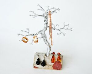 Jewelry Tree Earring Necklace Rings Display Holder Storage Rack Organizer Stand