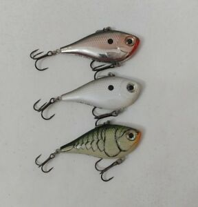 (3) Rapala Rippin Rap 06 Lipless Crankbaits Lot of 3 fishing lures