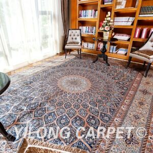 YILONG 10'x14' Persian Silk Handknotted Carpet Dome Classic Durable Rug YL250A