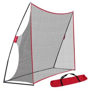 10 x 7FT Portable Golf Hitting Practice Net Driving Training Aids w Carry Bag