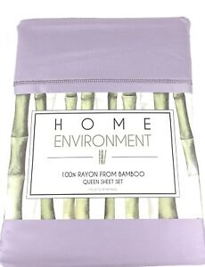 Lilac QUEEN or KING Sheet Set 100% BAMBOO Silky Twill Home Environment Lavender