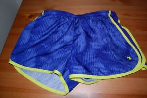 Champion Women's WorkoutRunning Blue & Yellow Shorts Sz S - Excellent Condition
