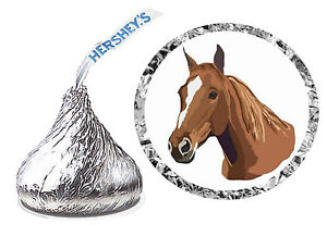 216 HORSES HORSE BIRTHDAY PARTY FAVORS HERSHEY KISS LABELS $6.50