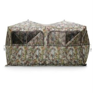 Outdoor Hunting Side by Side Ground Blind Deer Hunt Game Wild Concealment Field