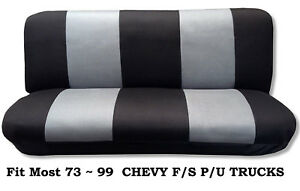 Mesh Black/Gray This Seat Cover Fits Most Models 73~99 Chevy Full size Truck's