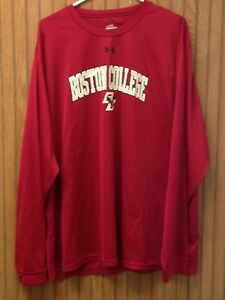 Under Armour XXL Men's Dry Fit Technology Long-Sleeve Shirt Boston College