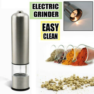 Automatic Kitchen Stainless Steel Electric Salt Pepper Spice Mill Grinder Muller $9.90
