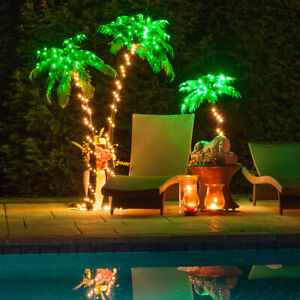 Curved LED Lighted Palm Tree Home Patio Decor 10 Function Remote Control