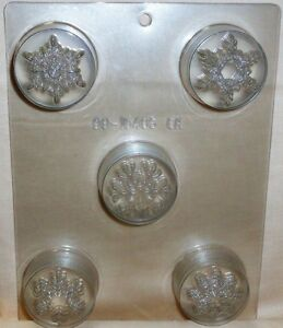 Snowflakes,Winter, Cookie Candy Mold,Chocolate/Oreo,Clear Plastic, C/K Products