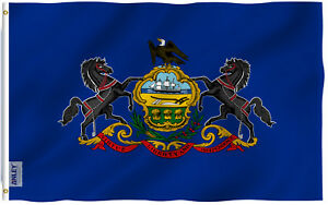 Anley Fly Breeze 3x5 Ft Pennsylvania State Flag Pennsylvania PA Flags Polyester