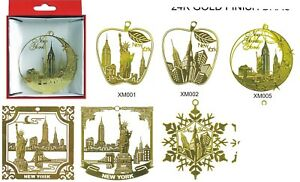 NEW YORK THEMED CHRISTMAS ORNAMENTS - STATUE OF LIBERTY, EMPIRE STATE BUILDING