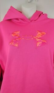 Under Armour Girls YXL Youth Pink Camo Storm Hoodie Sweater