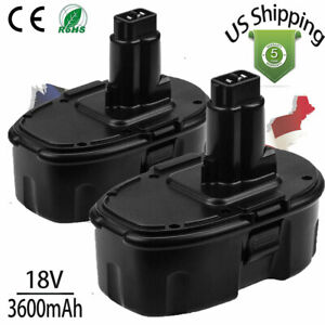 2pack Upgraded 18V for DeWalt DC9096 2 18 Volt XRP Battery DW9095 DC9098 DC9099