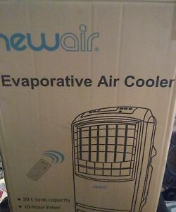 Portable Evaporative Cooler Unit Wet Air Desert Swamp Indoor Office Home Black