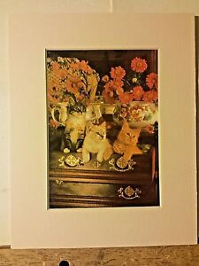 Portal Publications 1988 Kittens in Dresser Richard Stacks Lithograph CP034 11 $14.99