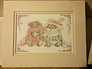 Portal Publications Two Bears in Clothes Alice Shaw Lithograph CSTD 003 36