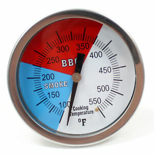 3 Temperature Thermometer Gauge Barbecue BBQ Grill Smoker Pit Thermostat