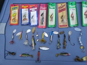 mepps comet aglia rooster tail and others large fishing lures lot