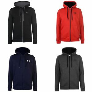Under Armour Rival Fitted Full Zip Hoody Jacket Mens Hoodie Sweatshirt Sweater