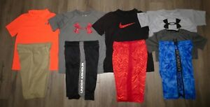 Lot 9 Boy's UNDER ARMOUR NIKE Loose Polo Shirts Athletic Golf Shorts YLG Large