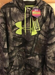 New Under Armour Men's Camo Hoodie hunt loose infrared coldgear NWT Size XL