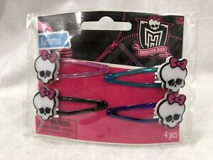 MONSTER HIGH Barrettes 4 Count Hair Clips **NEW** New ~Mint in Package~ MIP Rare