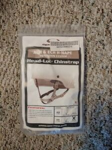 ACH AND ECH Ops-Core Helmet Chinstrap H-Nape Tan Chin Strap Improved Head-Loc