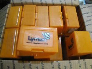 Lyman Empty Older Style Plastic Bullet Mold Boxes Orange Mould Containers
