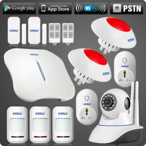 Smart Socket KERUI W1 WiFi PSTN Home Intruder Alarm System Wireless Strobe Siren